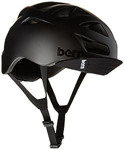 Bern Men's Allston Zip Mold Helmet with Flip Visor - Matte Black, Large/X-Large/57-60 cm