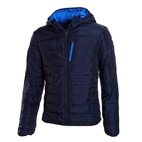 Giubbino Piumino DIADORA Uomo 100 Grammi Full Zip Cappuccio 3 Colori Art.089 ( Blue Corsair - 54 / XXL)