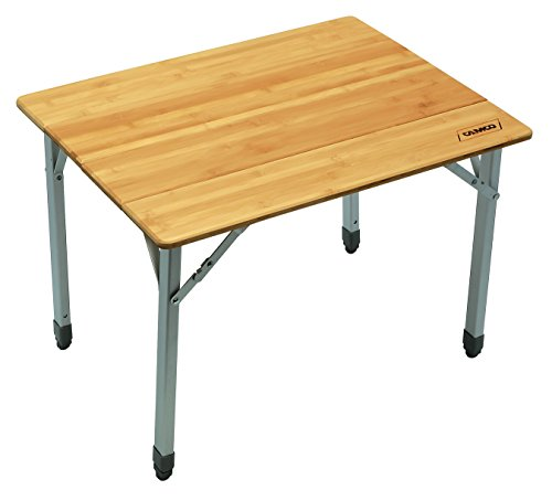 Camco 51895 Bamboo Folding Table with Aluminum Legs- Compact Design (Telescoping Table Legs compare prices)