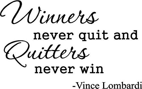 "Vince Lombardi "" Winners Never Quit And Quitters Never Win "" Inspirational Football Coach Wall Quotes Art Sayings Vinyl Decals Stickers front-681829"