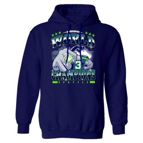 Seattle Seahawks super bowl champions Hoody 2014 NFL champions Beast mode tees -2X-Large Navy at Amazon.com