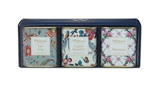 英国 Whittard (ウィッタード)ブラックティーセレクション 紅茶ギフト ミニ缶3種セット [並行輸入品]