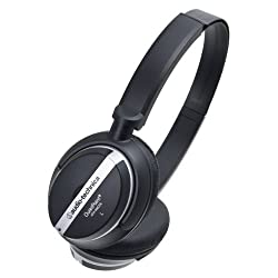 Audio Technica ATH-ANC25 Quiet Point Active Noise-Cancelling On-Ear Headphones