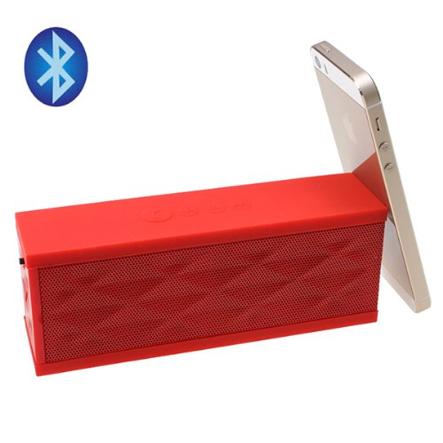 Image® Red Portable Wireless Bluetooth V3.0 Boombox Stereo Speaker W/Microphone For Samsung Galaxy S2/S3/S4, Note 2/3, Iphone 4/4S/5/5S/5C, Pc Laptop, Tf Card, Answer System