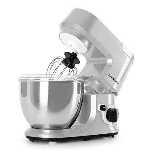 Klarstein-Carina-Argentea-Robot-de-cuisine-multifonction-pour-preparation-de-pate-ptrisseur-malaxeur-800W-bol-en-acier-de-4L-6-vitesses-argent