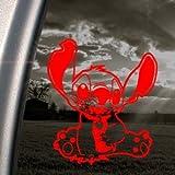 DISNEY Red Decal LILO AND STITCH ALIEN Window Red Sticker