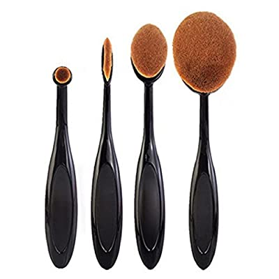 4Pcs/Set Toothbrush Shape Eyebrow Makeup Foundation Brush Powder Brush Kits