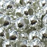 100 pieces 6mm Silver Plated Metal Sp...