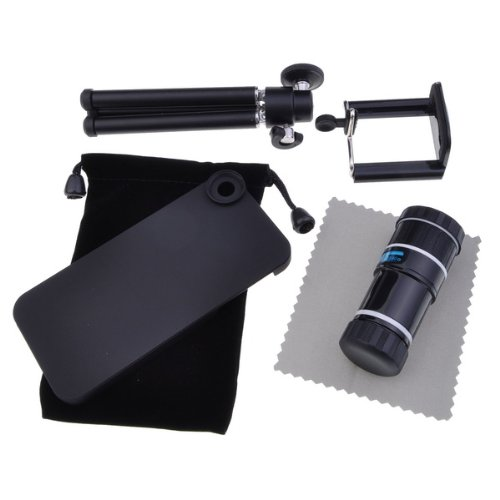 Bestdealusa 12X Optical Zoom Telescope Camera Lens + Tripod + Case For Apple Iphone 5 5G New