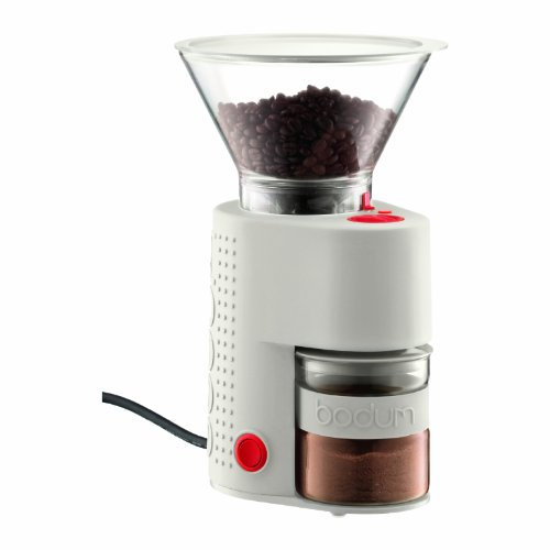 BODUM 10903-913UK Bistro Electric Coffee Grinder, Off White