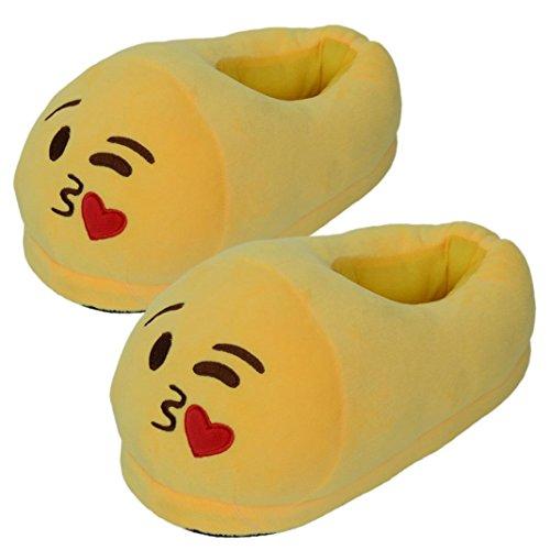 Malloom-Mujeres-y-hombres-universal-zapatilla-felpa-QQ-expresin-emoji-Casa-Zapatos