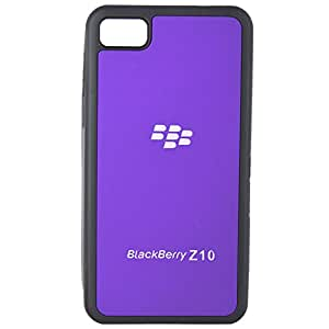 Purple Imported Plain Rubberised Hard Back Case Pouch For Black berry Z10
