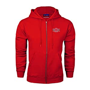 Arkansas State Champion Red Fleece Full Zip Hood