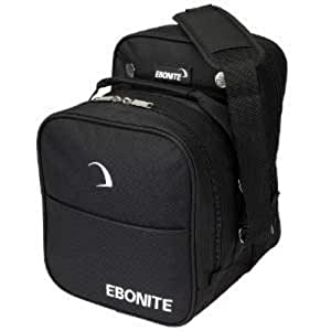 Ebonite Compact Single Bowling Ball Tote, Black