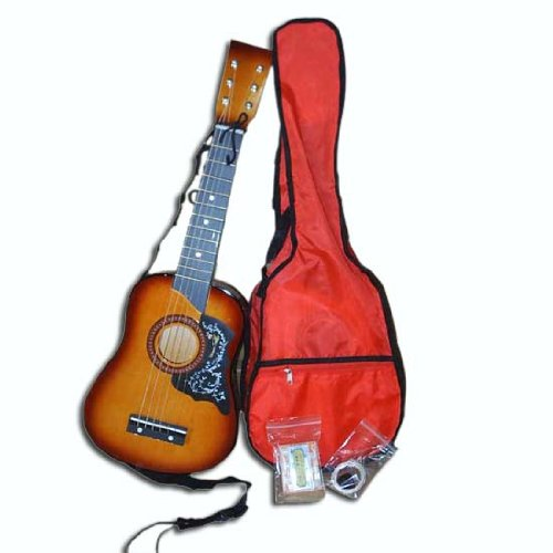 Kid's Acoustic Toy Guitar with Carrying Bag and Accessories - Sunburst