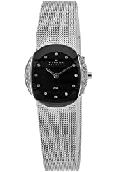Skagen Women's O689SSSB Quartz Black Dial Stainless Steel Watch
