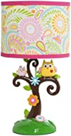 Kids Line Dena Happi Tree Lamp Base and Shade Pink