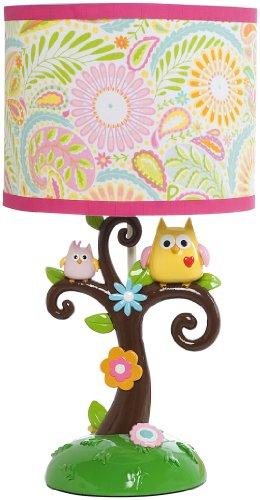 Kids Line 5709BS Dena Happi Tree Lamp Base and Shade (Pink)