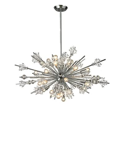 Artistic Lighting Starburst Collection 24-Light Chandelier, Polished Chrome