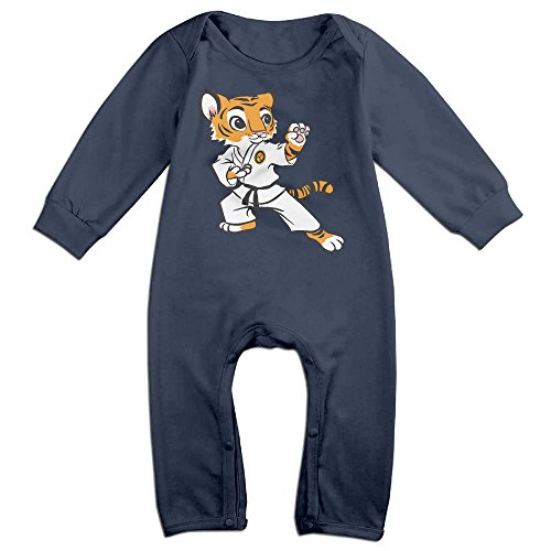 VanillaBubble Kungfu Tiger For 6-24 Months Boys&Girls Funnies Tee Shirt Navy Size 6 M