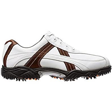 Men's Footjoy Contour Golf Shoes White/Brown Size 9 M US