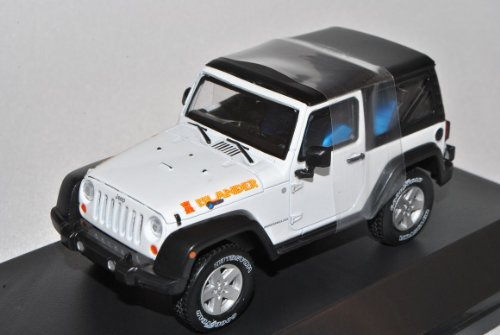 Jeep Wrangler Rubicon Mit Soft Top Weiss Islander Ab 2012 1/43 Greenlight Modell Auto