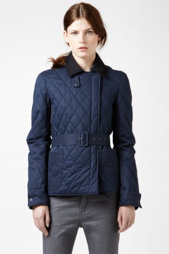 Quilted Jacket With Leather Details