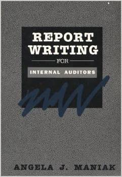 Report Writing Internal Auditors