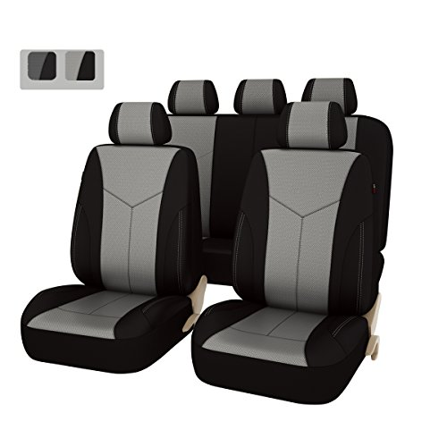 Car Pass Universal Seat Covers Set - Black with Gray (11-Piece) (7 Piece Seat Covers For Cars compare prices)