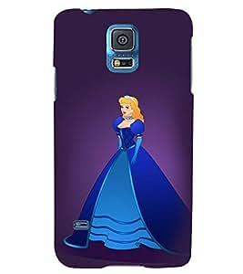 Printvisa Princess In A Blue Dress Back Case Cover for Samsung Galaxy S5 G900i::Samsung Galaxy S5 i9600::Samsung Galaxy S5 G900F