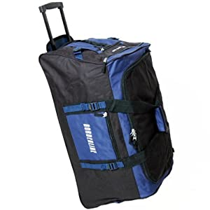 Borderline Extra Large 30 Inch Wheeled Holdall Bag (Black/Blue)