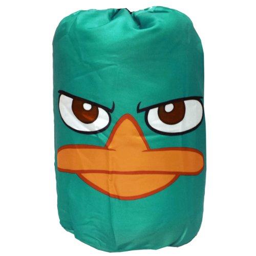 "Disney Phineas and Ferb ""Never Flinch"" Slumberbag in Backpack"