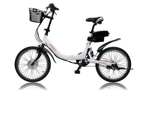 E-Bike, Elektrofahrrad, FLEXX 20″, E-Klapprad, Riemenantrieb, 3-Gang Shimano, gefedert, Faltrad, 250W, 36V, 9 Ah, LightSKIN LED Sattelstütze, Ebike, Pedelec faltbar, Mobilitätspaket, Camping, Marine, Pendler, Cityflitzer