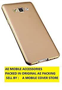 AE Mobile Accessorise Luxury Metal Bumper + PC Back Fusion Case Cover for Samsung Galaxy J7 GOLD