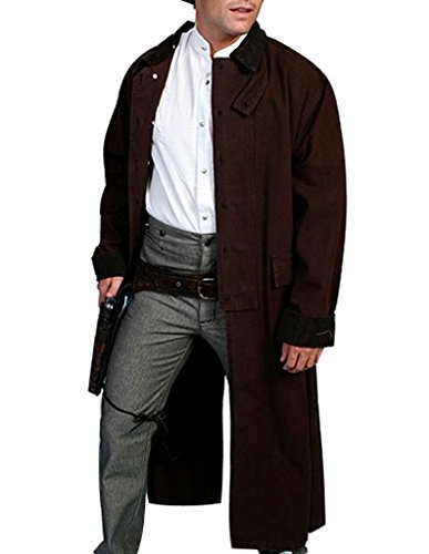 Rangewear By Scully Men`s Long Canvas Duster Walnut X-Large