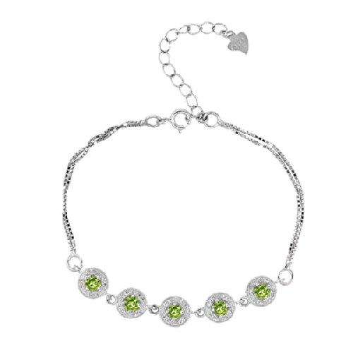 august birthstone bracelets