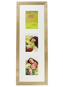 Nielsen Essentielles Birch 20 x 60 cm Multi 3-Aperture 15 x 10 cm, Wooden Multi-Photo Frames