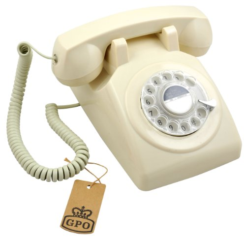 RETRO TELEPHONE 1970'S IVORY COLOUR, PUSH BUTTON DIALLING, RETRO DIAL TEMPLATE image