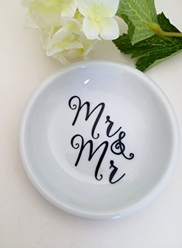 Mr & Mr Ring Dish, Couples Trinket Dish, Gay Couples Wedding gifts