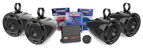 MTX MOTORSPORTS BORVKIT2 Bluetooth Tower 4-Speaker & Amplifier Off-Road Motorsports Package (Mtx Package compare prices)