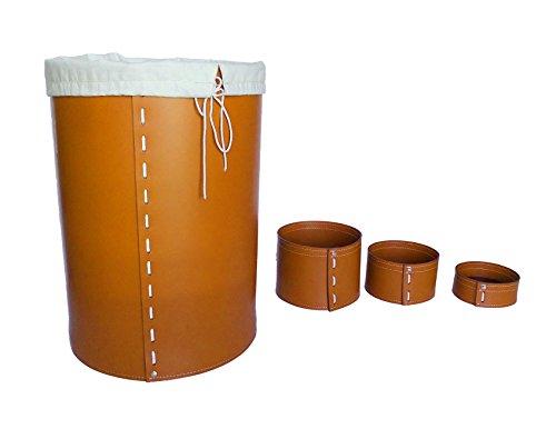 KOME 532: Set svuota tasche in cuoio rigenerato composto da 3 pezzi, colore Marrone.