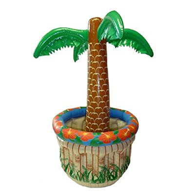 Palme Aufblasbar mit Getränkebehälter 40x70cm  - Hersteller Party-Discount