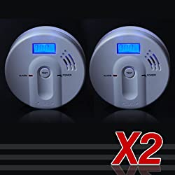 Home Security Safety JKD-603 Co Gas Carbon Monoxide Alarm 2 pcs from Oxford Street
