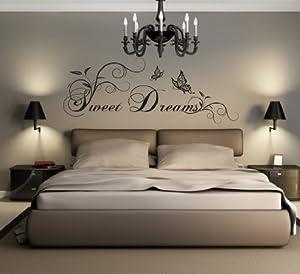 wandtattoos schlafzimmer sweet dreams. Black Bedroom Furniture Sets. Home Design Ideas