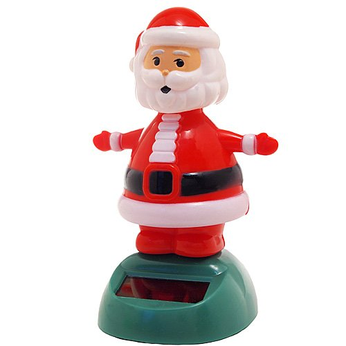 Solar Bobblehead Toy Figure - Dancing Santa - 1