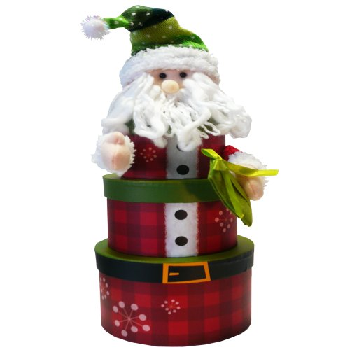 Art of Appreciation Gift Baskets Santa Claus Tower of Christmas Holiday Treats