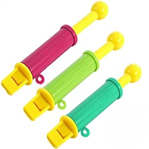 Pack of 8 - Mini Musical Slide Whistles - Great Girls or Boys Party Loot Bag Toy Fillers