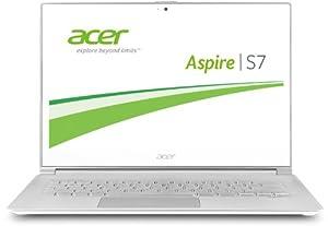 "Acer S7-392-74508G25tws Ultrabook portable tactile 13,3"" Blanc/Argent (Intel Core i7, 8 Go de RAM, 256 Go de SSD, Windows 8.1)"