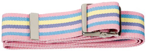 Great Deal! Prestige Medical 621-spa Cotton Gait Belt with Metal Buckle Stripes Hot Pink