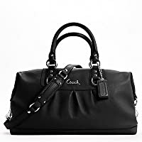 Coach's Coach Leather Large Ashley Sabrina Duffle Satchel Bag Purse Tote 15447 Black Only For $498.00